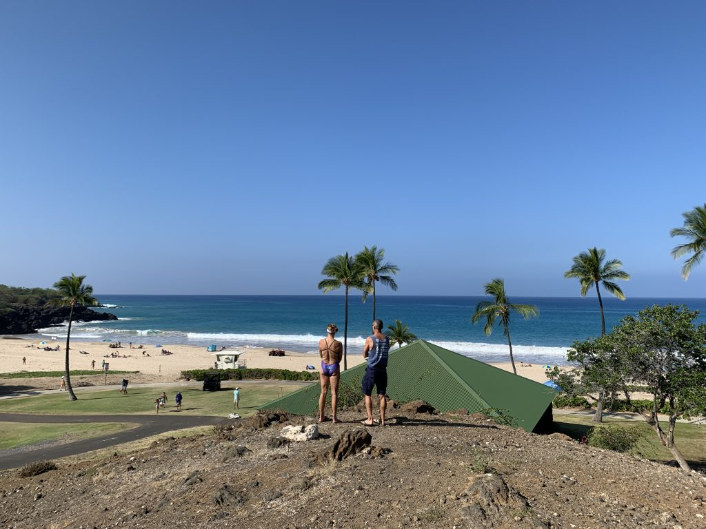 Hapuna Beach on Dec. 23 after the water was cleared.