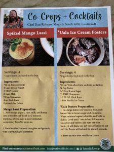 recipes: mango lassi & 'uala ice cream Fosters